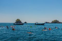 Ko Lipe达鲁国家海洋公园泰国 库存照片