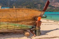 Ko Lipe Tarutao Marine Park Thailand nacional imagens de stock