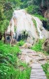 Ko luang瀑布,南奔,泰国 免版税图库摄影