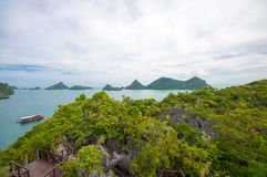 Ko Mae Ko. Panoramic view of the Ko Mae Ko Island in Thailand Stock Photos