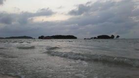 Ko Na Thian i Ko maty Lang wyspy Widzieć od Koh Samui wyspy podczas wschodu słońca na Chmurnym dniu w Tajlandia Obraz Royalty Free