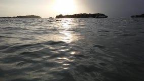 Ko Na Thian i Ko maty Lang wyspy Widzieć od Koh Samui wyspy podczas wschodu słońca na Chmurnym ranku w Tajlandia Obrazy Royalty Free