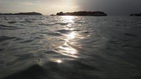 Ko Na Thian i Ko maty Lang wyspy Widzieć od Koh Samui wyspy podczas wschodu słońca na Chmurnym ranku w Tajlandia Zdjęcie Royalty Free