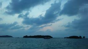 Ko Na Thian i Ko maty Lang wyspy Widzieć podczas wschodu słońca od Koh Samui wyspy, Tajlandia Zdjęcia Royalty Free