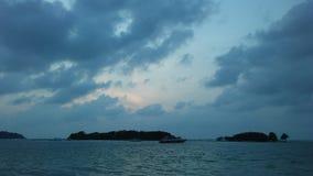 Ko Na Thian i Ko maty Lang wyspy Widzieć podczas wschodu słońca od Koh Samui wyspy, Tajlandia Fotografia Stock
