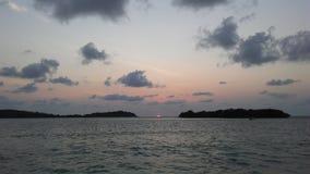 Ko Na Thian i Ko maty Lang wyspy Widzieć podczas wschodu słońca od Koh Samui wyspy, Tajlandia Obrazy Royalty Free