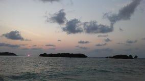 Ko Na Thian i Ko maty Lang wyspy Widzieć podczas wschodu słońca od Koh Samui wyspy, Tajlandia Zdjęcie Royalty Free