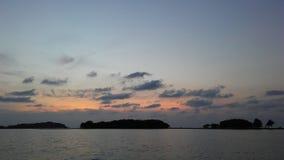 Ko Na Thian i Ko maty Lang wyspy Widzieć podczas wschodu słońca od Koh Samui wyspy, Tajlandia Obraz Royalty Free