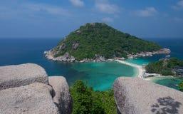 Ko Nang Yuan Island nära Samui, Thailand Royaltyfria Bilder