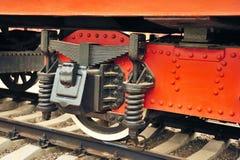 Koło stara parowa lokomotywa. Obraz Royalty Free