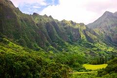 Ko'olau bergskedja, Oahu, Hawaii Royaltyfria Bilder