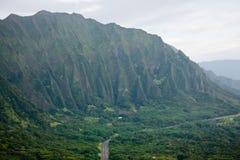Ko'olau Mountains, Oahu, Hawaii. One of the major crests of Ko'olau mountain range, down east coast of Oahu Royalty Free Stock Images