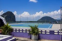 Ko Panyi学校运动场,攀牙湾,泰国 库存图片