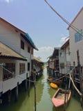 Ko Panyi, деревня рыболова в Таиланде Стоковая Фотография RF