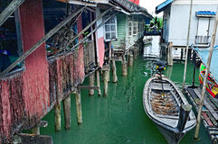 Ko Panyi. (also known as Koh Panyee), a fisherman village in Thailand built on stilts Royalty Free Stock Photography