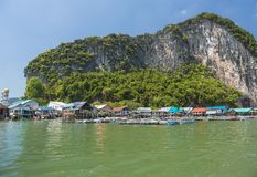 Ko Panyi Koh Panyee village Royalty Free Stock Photography