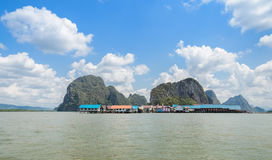 Ko Panyi or Koh Panyee, floating fishing village Royalty Free Stock Photos
