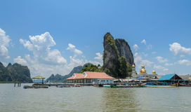 Ko Panyi or Koh Panyee, floating fishing village in Phang Nga Pr Stock Images