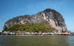 Ko Panyi, Phang Nga landskap, Thailand Arkivbilder