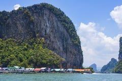 Ko Panyi, village on sea, Phang Nga Bay, Thailand royalty free stock images