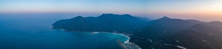Ko Pha-ngan island, ocean at sunset. Thailand. stock image