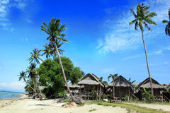 Ko Pha Ngan plaży scena, Tajlandia Obrazy Stock