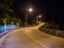 Ko Phangan night road. Thailand stock photography