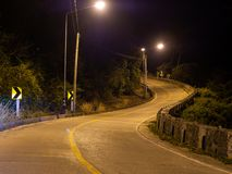 Ko Phangan night road. Thailand royalty free stock photography