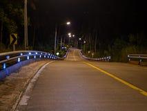 Ko Phangan night road. Thailand stock images