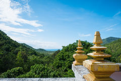 Ko Phangan, Thailand sikt Arkivfoto