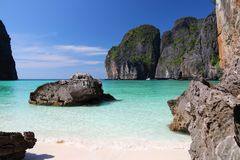 Ko Phi Phi Island. Beach in Thailand - Maya Bay of Ko Phi Phi island Stock Photography