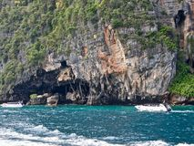 Ko Phi Phi Island in Thailand_01-24-2017. Full of tourists at the beach Royalty Free Stock Photo