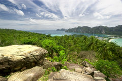 Ko Phi Phi. Amazing view of Ko Phi Phi island in Thailand Stock Photos