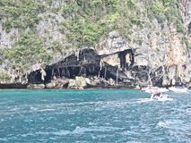 Ko Phi Phi Island in Thailand_01-24-2017. Full of tourists at the beach Royalty Free Stock Image