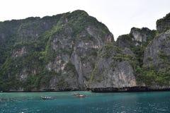 Ko Phi Phi Lee en mer d'Andaman, Thaïlande Images libres de droits