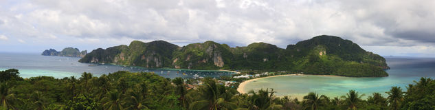 Ko Phi Phi Panoramic Royalty Free Stock Photography