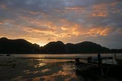 Ko Phi Phi Sunset Stock Foto