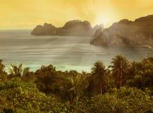 Ko phi phi sunset Stock Photos