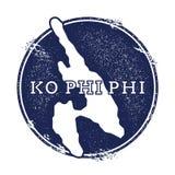 Ko Phi Phi vector map. Royalty Free Stock Photos