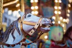 Koń, rocznika carousel Obrazy Royalty Free