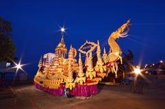 Ko samui. NOVEMBER 11: NGAN DUAN SIB Traditional of buddhist festival; Decorations of the parade on November 11, 2012 in  surat thani, Thailand stock image