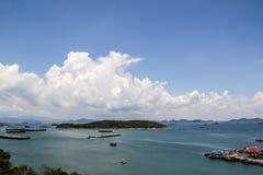 Ko Sichang. Blue sky and sea at ko sichang island in thailand Stock Photo