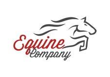 Końska grafika dla equine firmy ilustracja wektor