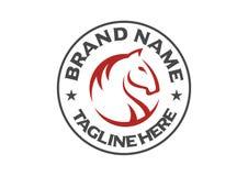 Końska grafika dla equine firmy royalty ilustracja