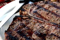 kość stek t Zdjęcie Royalty Free