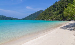 Ko Surin white sand beach and turquoise blue sea Thailand Stock Photography