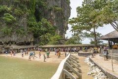 Остров Жамес Бонд (Ko Tapu), Таиланд Стоковые Фотографии RF