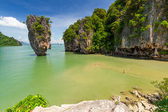 Ko Tapu Felsen auf dem Phangnga-Schacht in Thailand Lizenzfreie Stockbilder