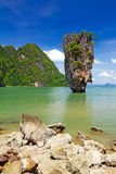Ko Tapu Felsen auf James Bond-Insel Stockbild