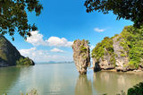 Ko Tapu island in Phuket. Is most popular attraction for tourists in Thailand Royalty Free Stock Photography